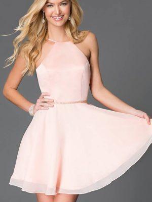 Đầm xòe phi bóng hở lưng sexy gợi cảm - DN134