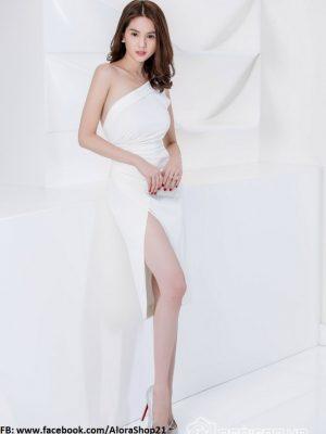 Đầm body lệch vai và xẻ đùi sành điệu trẻ trung - DN138