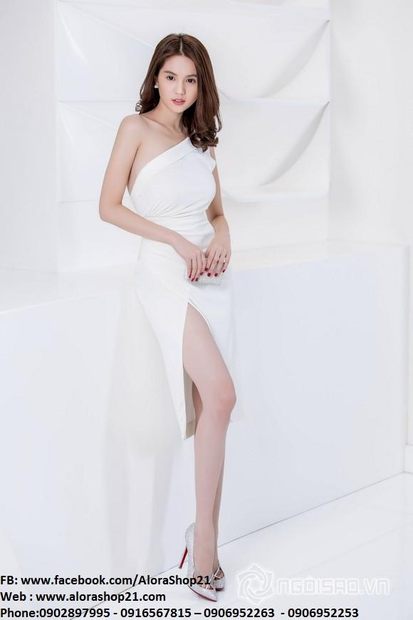 Đầm body lệch vai và xẻ đùi sành điệu trẻ trung – DN138