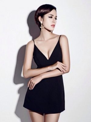 Đầm body hai dây hở lưng sexy tôn dáng - DN142