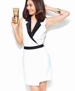 Đầm body vest trắng viền đen ôm body quyến rũ - DN143
