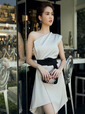 Váy suông phi bóng Ngọc Trinh cách điệu độc đáo - DN177