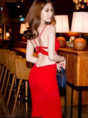 Đầm cut-out khoe ngực lưng trần gợi cảm như Ngọc Trinh - DN178