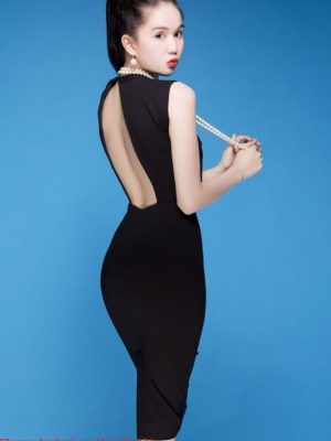 Đầm Ngọc Trinh ôm body kiểu cut - out hở lưng sexy - DN185