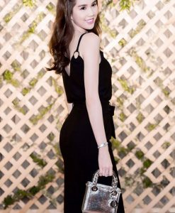 Áo váy Ngọc Trinh kiểu áo 2 dây thiết kế cột nơ xinh xắn - DN188