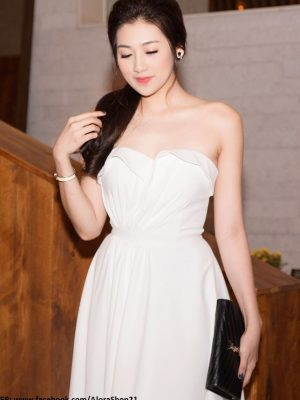 Đầm xòe cúp ngực trắng dễ thương như Tú Anh - DN193
