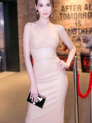 Đầm nude cúp ngực ôm body tôn dáng như Ngọc Trinh - DN196