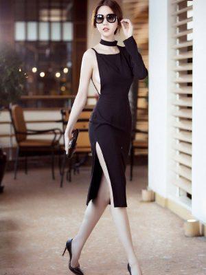 Váy hở lưng Ngọc Trinh thiết kế ôm body thật phong cách - DN204