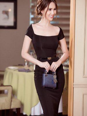 Váy đen ôm body Ngọc Trinh thiết kế sang trọng, quý phái - DN209