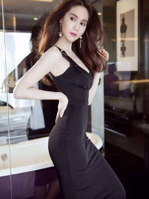 Đầm Ngọc Trinh ôm body kiểu cúp ngực 2 dây tinh tế - DN211