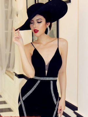 Đầm ôm body thiết kế tinh tế quý phái hợp dự tiệc - DN218
