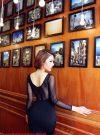 Đầm đen pha lưới tay dài thiết kế ôm body sang trọng – DN245
