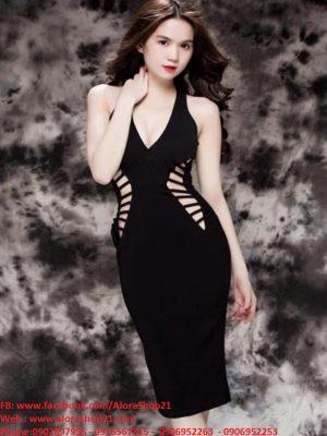 Đầm hở eo ôm body cut out thiết kế sexy như Ngọc Trinh - DN267