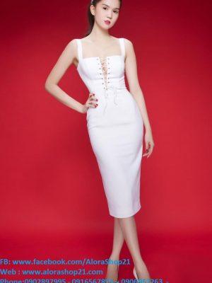 Đầm ôm body Ngọc Trinh thiết kế cách điệu ngực - DN272