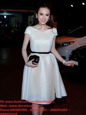Đầm xòe trắng tiểu thư nhẹ nhàng như Phương Trinh - DN304