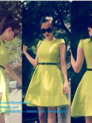 Đầm xòe ngắn trên gối tay con đáng yêu thời trang - DN309