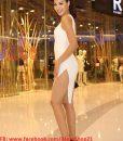 Đầm body trắng lệch vai cut out sexy quyến rũ sang trọng – DN348