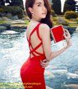 Đầm đỏ ôm body hở lưng thiết kế sexy như Ngọc Trinh – DN349