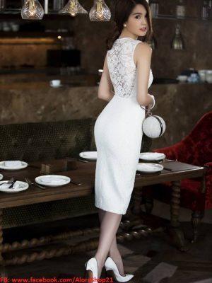 Váy đầm đẹp dự tiệc thiết kế ôm body trẻ trung của Ngọc Trinh - DN35