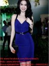 Váy body xanh hở lưng sexy tôn dáng như Ngọc Trinh - DN36