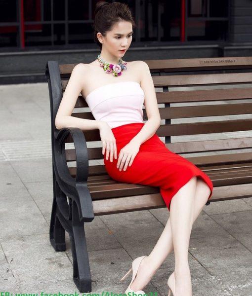 Đầm body cúp ngực form chuẩn dự tiệc sang trọng như Ngọc Trinh – DN373