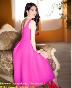 Đầm xòe cao cấp Ngọc Trinh quý phái kiều diễm - DN376