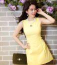 Đầm suông sát nách màu trắng trẻ trung dễ thương như Ngọc Trinh – DN380