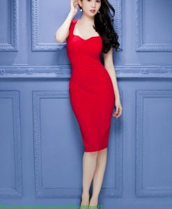 Đầm body 2 dây cúp ngực xinh đẹp như Ngọc Trinh - DN381