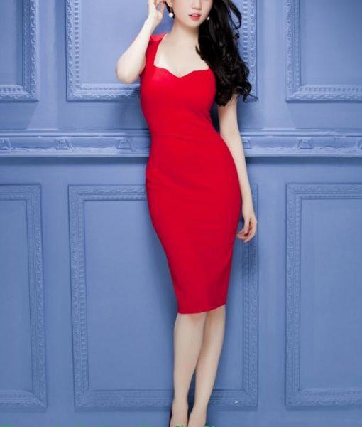 Đầm body 2 dây cúp ngực xinh đẹp như Ngọc Trinh – DN381
