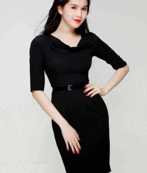 Đầm body tay dài sang trọng quyến rũ như Ngọc Trinh – DN395