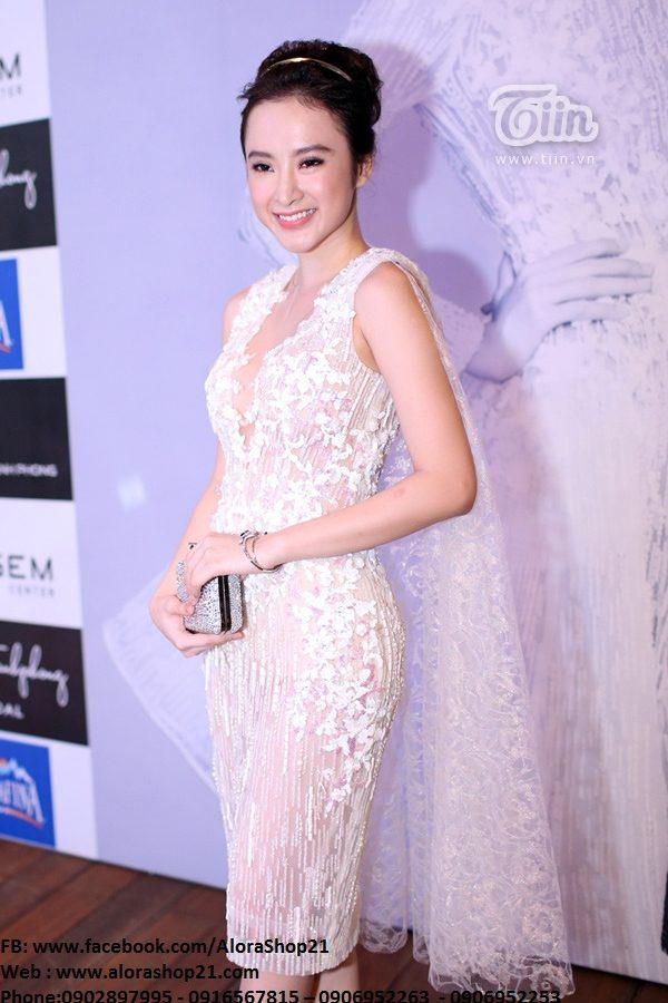 Đầm ôm ren trắng gợi cảm quyến rũ như Phương Trinh – DN45