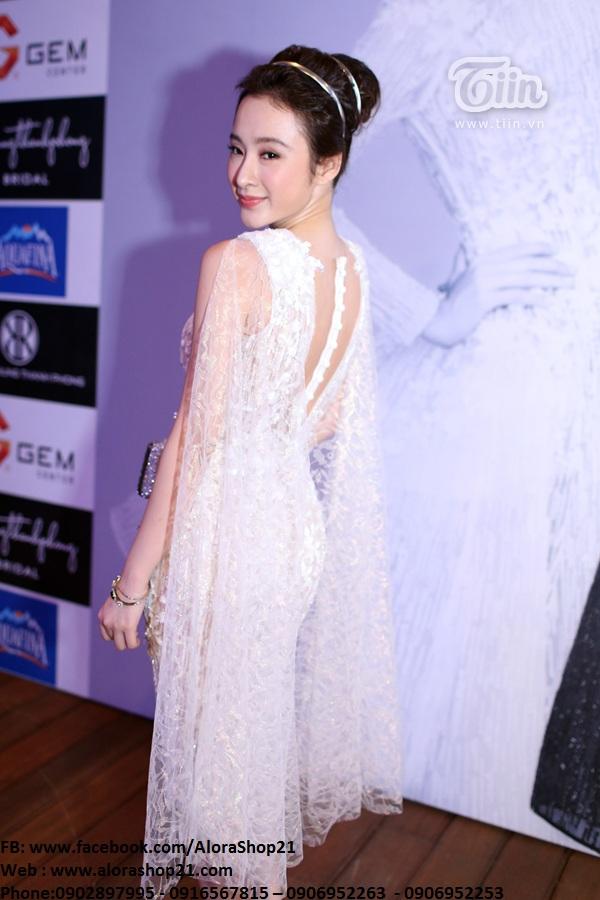 Đầm ôm ren trắng gợi cảm quyến rũ như Phương Trinh - DN45