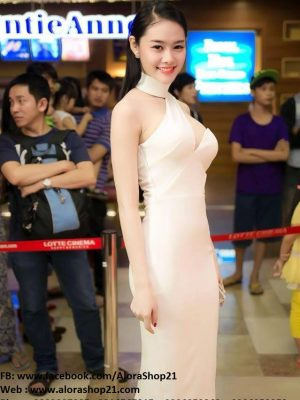 Đầm ôm body dự tiệc cut out quyến rũ như Linh Chi - DN56