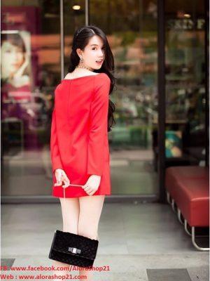 Đầm suông Ngọc Trinh cổ chữ U phong cách mùa hè - DN62