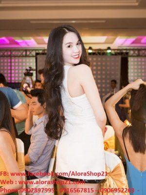 Đầm body trắng phối đen sành điệu như Ngọc Trinh - DN84