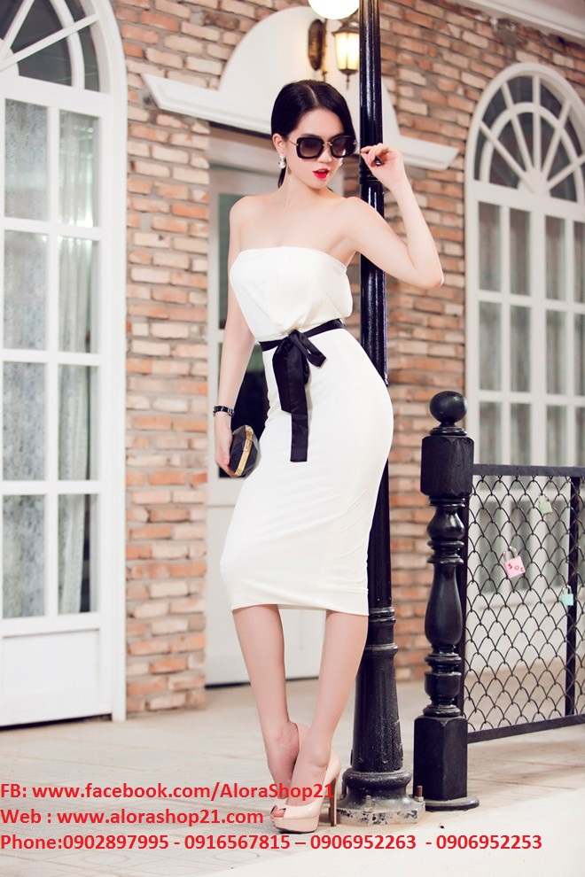 Váy ôm body cúp ngực thắt eo tôn dáng - DN94