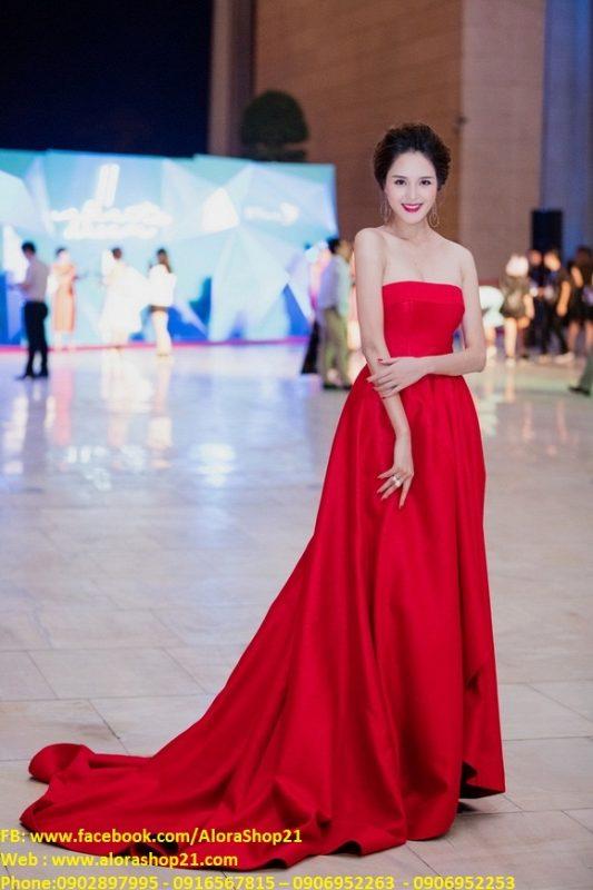 Đầm dạ hội cúp ngực chân xòe như á hậu Hoàng Anh - DN351