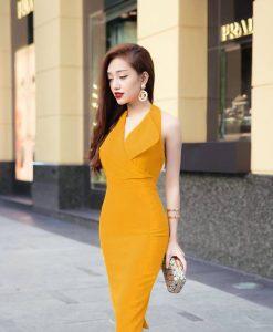 Đầm đẹp công sở thiết kế giả vest sang trọng, đơn giản - DN274