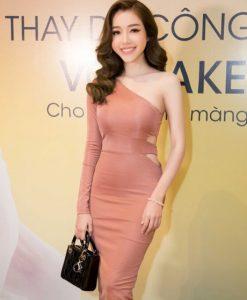 Váy ôm body đẹp thiết kế lệch vai 1 tay cực phong cách - DN280