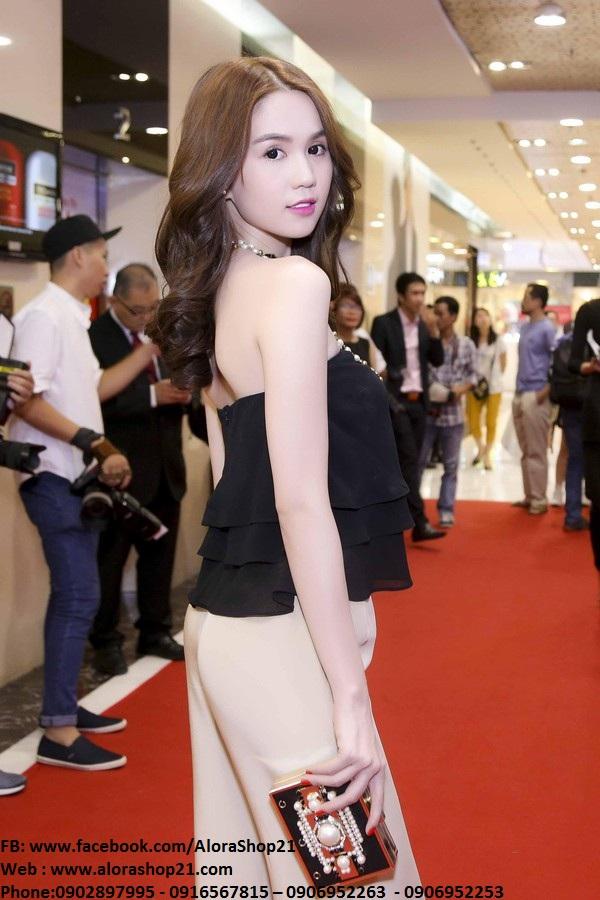 Bộ áo ống voan và quần ống suông đẹp như Ngọc Trinh - J70