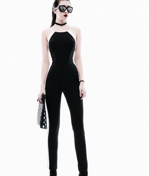Jumpsuit hở lưng đẹp thiết kế ôm body tôn dáng – J72