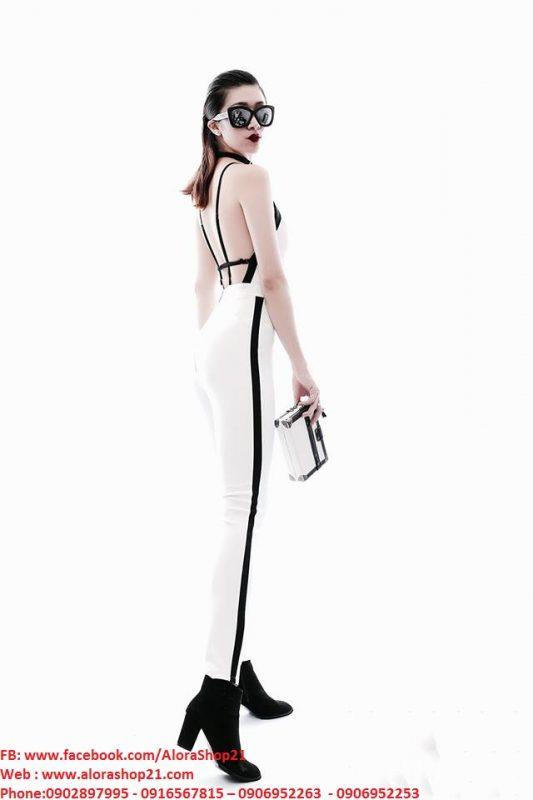 Jumpsuit hở lưng đẹp thiết kế ôm body tôn dáng - J72