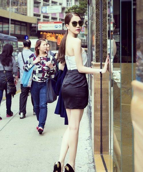 Set bộ áo váy ngắn lệch vai sexy như Ngọc Trinh - JN37