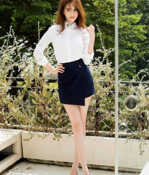Bộ áo quần giả váy phong cách trẻ trung như Ngọc Trinh – JN39