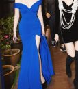 Đầm dạ hội trễ vai thiết kế ôm body xẻ tà tuyệt đẹp - D371