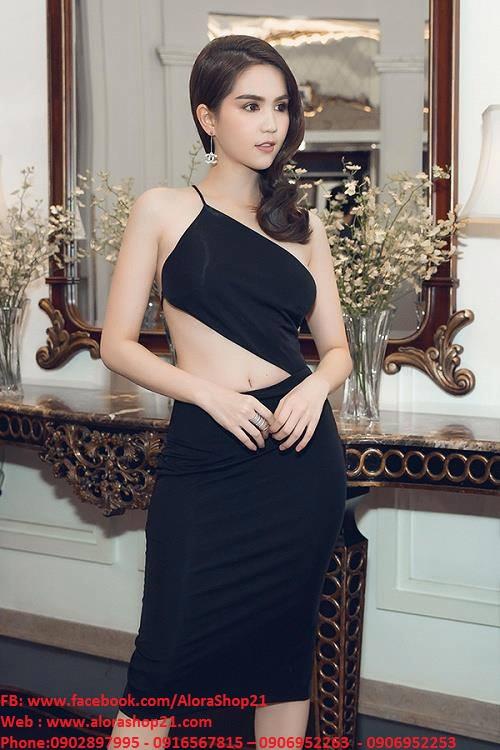 Đầm body cut out sexy tôn dáng như Ngọc Trinh - DN300