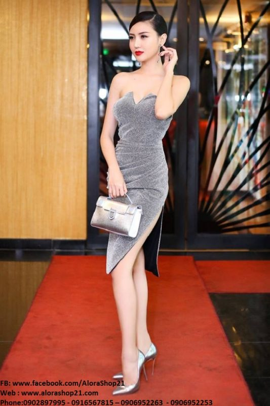 Đầm body cúp ngực xẻ đùi cao tôn dáng - DN301