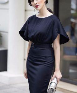 Đầm Công Sở Tay Cánh Tiên Đẹp Như HH Mỹ Linh - DN302