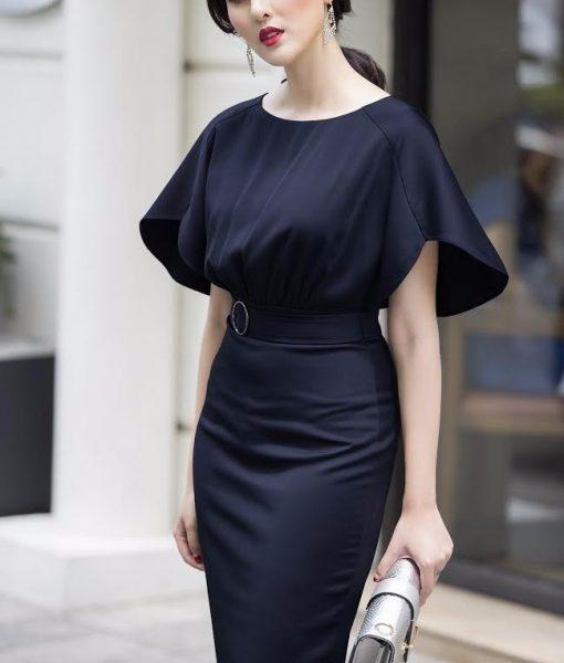 Đầm Công Sở Tay Cánh Tiên Đẹp Như HH Mỹ Linh – DN302