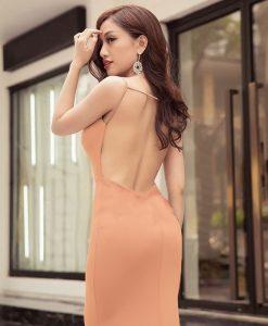 Đầm dạ hội hở lưng thiết kế ôm body tôn dáng sexy - D381